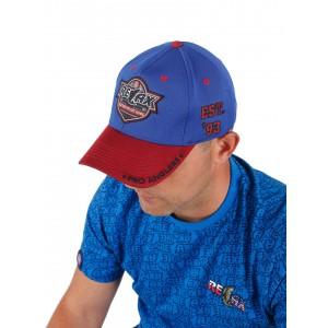 Фирменная кепка Relax (красно-синяя)